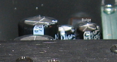 bulging capacitor